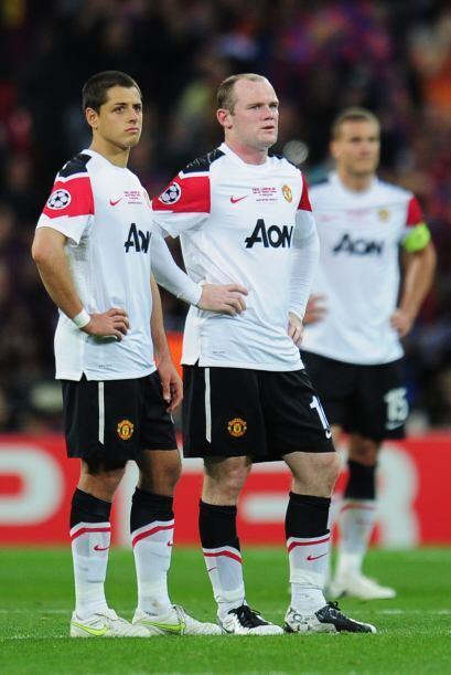 La dupla 'Chicharito'-Rooney no tuvieron chances. El 'Man-U' jugó...