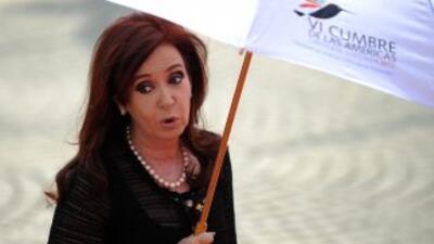 Cristina Fernández envió el texto al Parlamento para buscar la soberanía...