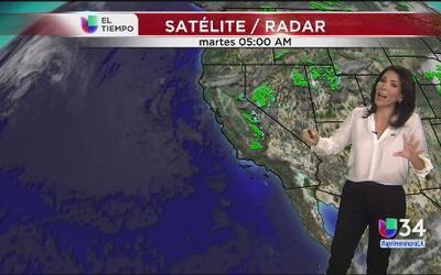 Llovizna ligera en algunas zonas de Los Ángeles