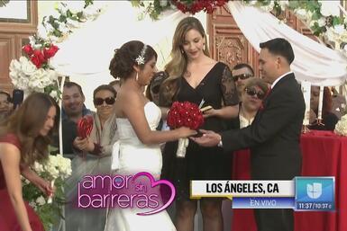 ¡Muy emotiva! Nayeli y Gilberto se casaron en Los Ángeles