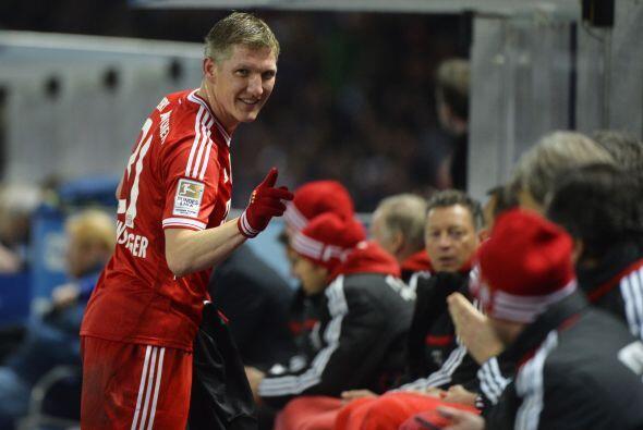 Bastian Schweinsteiger jugó 64 minutos y puso el pase para el gol de Goe...