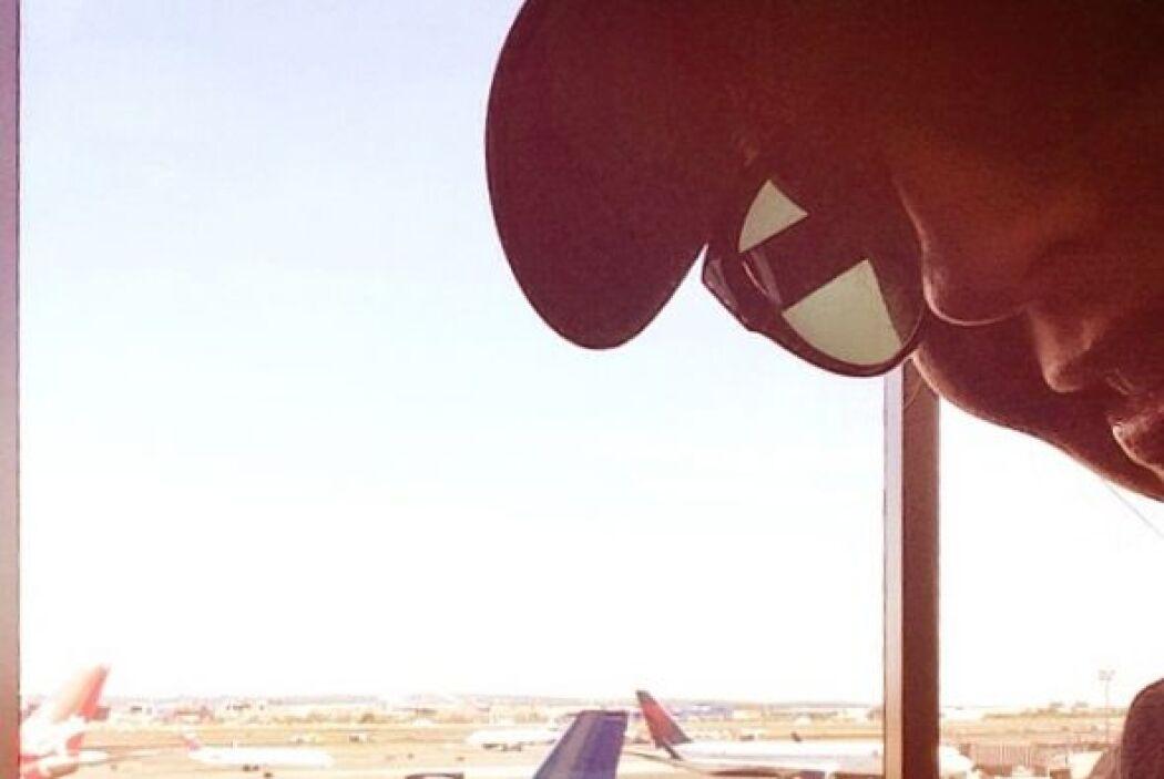 Desde que despegaba, Thalía ha compartido cada momento de sus vacaciones.