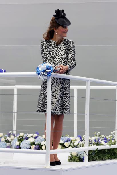 Era una ceremonia para nombrar un barco de crucero.