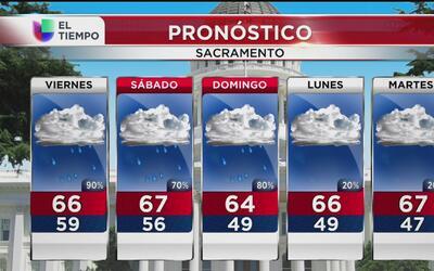 Se esperan fuertes lluvias durante el 28 de octubre en Sacramento