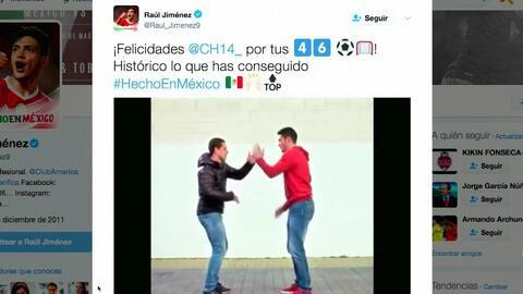 Jiménez y 'Chicharito' se lucieron con una coreografía para festejar el...