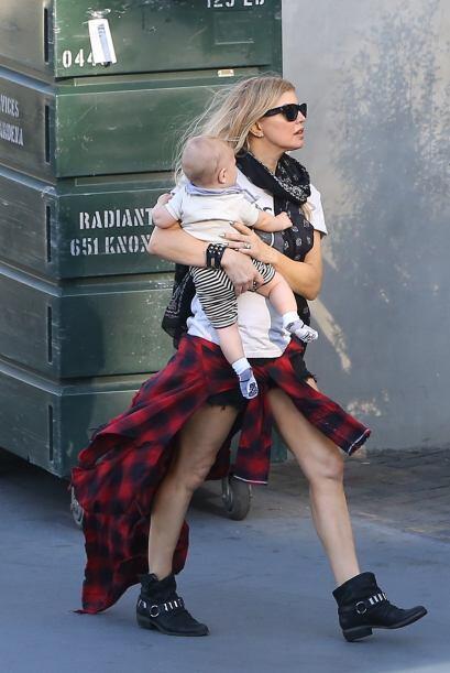El bebito de Fergie es muy tierno.