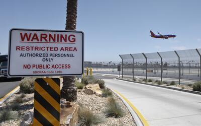 Zona de seguridad del aeropuerto de San Diego