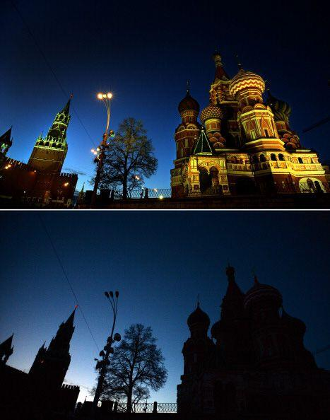 El Kremlin también se unió a la Hora del Planeta.