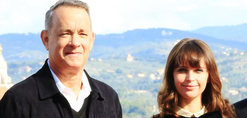 Tom Hanks y Felicity Jones recorrieron Italia contrarreloj en 'Inferno'