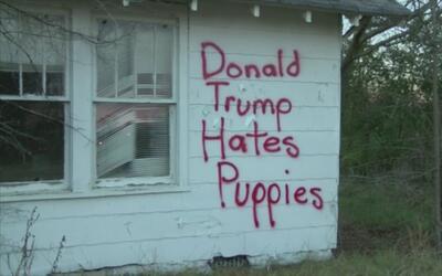 Convirtió su casa en un símbolo de expresión contra Trump