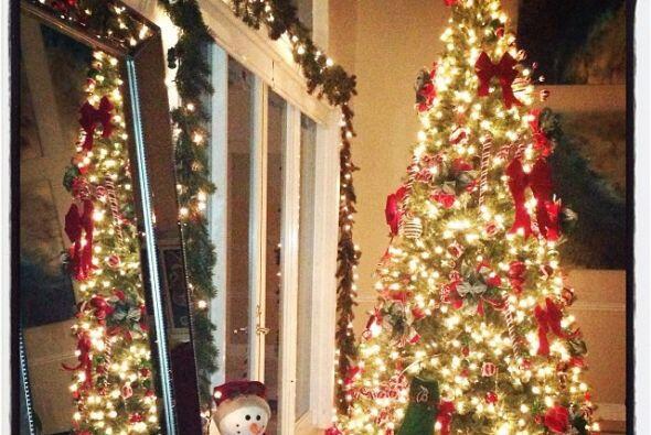 La conductora de Primer Impacto también tiene un hermoso árbol de navidad.