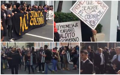 Manifestación contra foro sobre Promesa