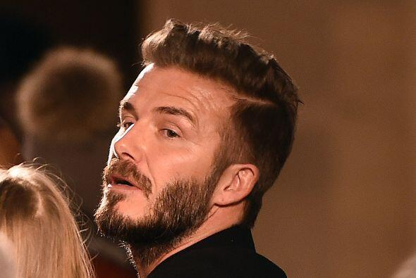 Beckham fue uno de los que no paró de aplaudir y siempre estuvo al pendi...