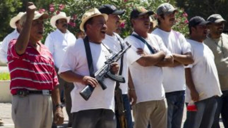 Los grupos autodefensa se alzaron en armas en 2013 en Michoacán para def...