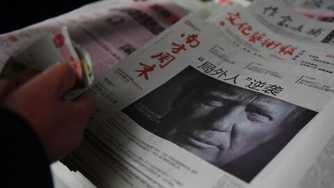 Diarios chinos del 10 de noviembre, cuando dan la noticia del triunfo de...