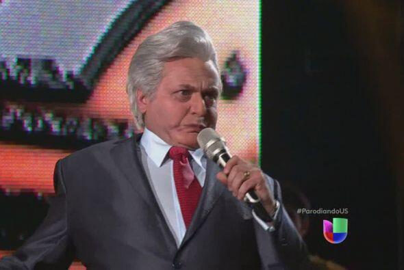 Enrique Guzmán con Angélica Vale.