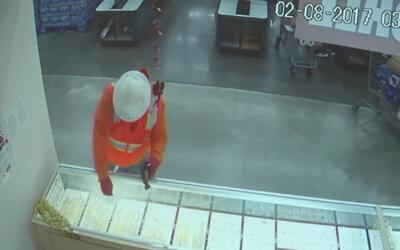 Disfrazado como obrero y armado con un martillo, ladrón se llevó varias...
