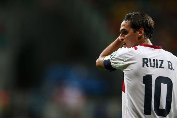 Bryan Ruiz fue el referente ofensivo de Costa Rica durante la Copa del M...