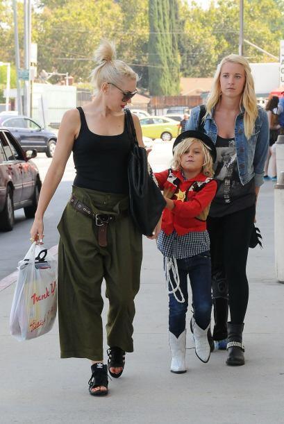 Gwen Steffani también optó por la ayuda de una nana para sus hijos, la c...