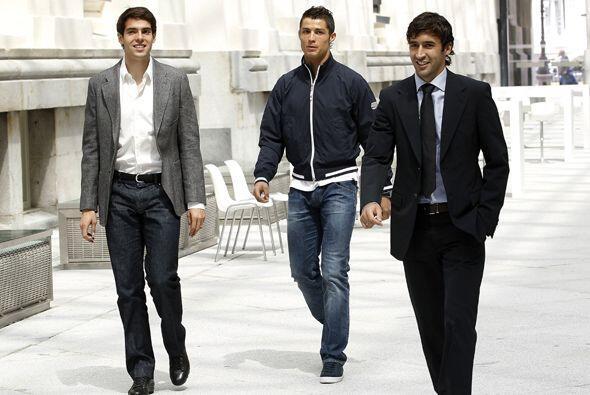 Kaká, Cristiano Ronaldo y Raúl no se perdieron el evento porque será la...