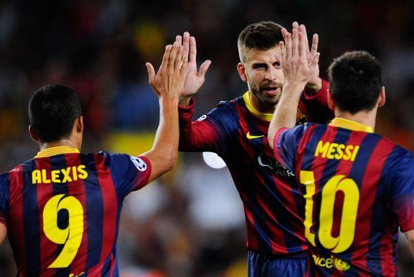 El defensa Gerard Piqué marcaba el tercer tanto para los catalanes.