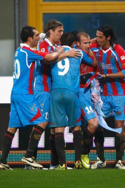 Pero con un buen gol de Cristian Llama al minuto 75 el Catania se llevó...