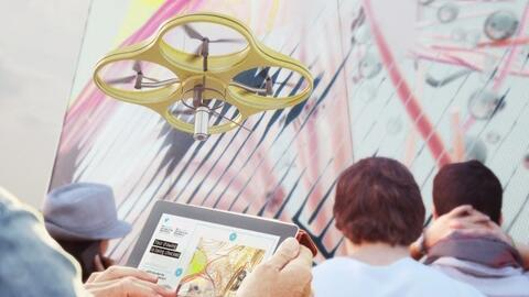 drones y pintura