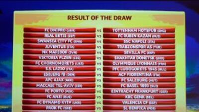 Dnipro vs. Tottenham, Swansea vs. Napoli, Porto vs. Eintracht y Dynamo v...