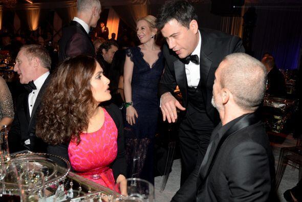 Doña Salma y Jimmy Kimmel discutían si la pieza de arte que ella acababa...