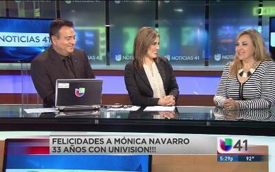 ¡Felicidades Mónica Navarro por 33 años en Univision!