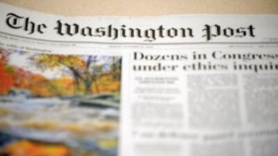 El grupo de prensa Washington Post reportó un beneficio multiplicado por...