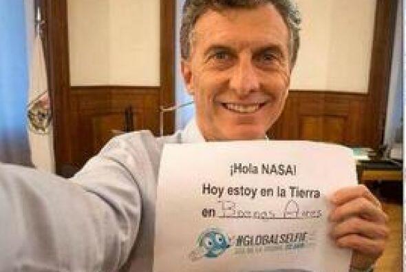 El jefe de gobierno porteño, Mauricio Macri, se unió a la campaña #Globa...