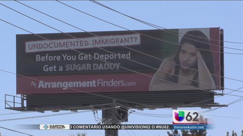 Polémico anuncio panorámico en la ciudad de Austin