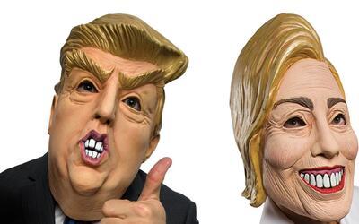 Máscaras de Trump y Clinton serán de las más usadas...