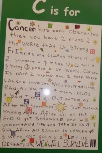 C is for Cancer.  Tiene muchos obstáculos.. tienes que probar al mundo q...