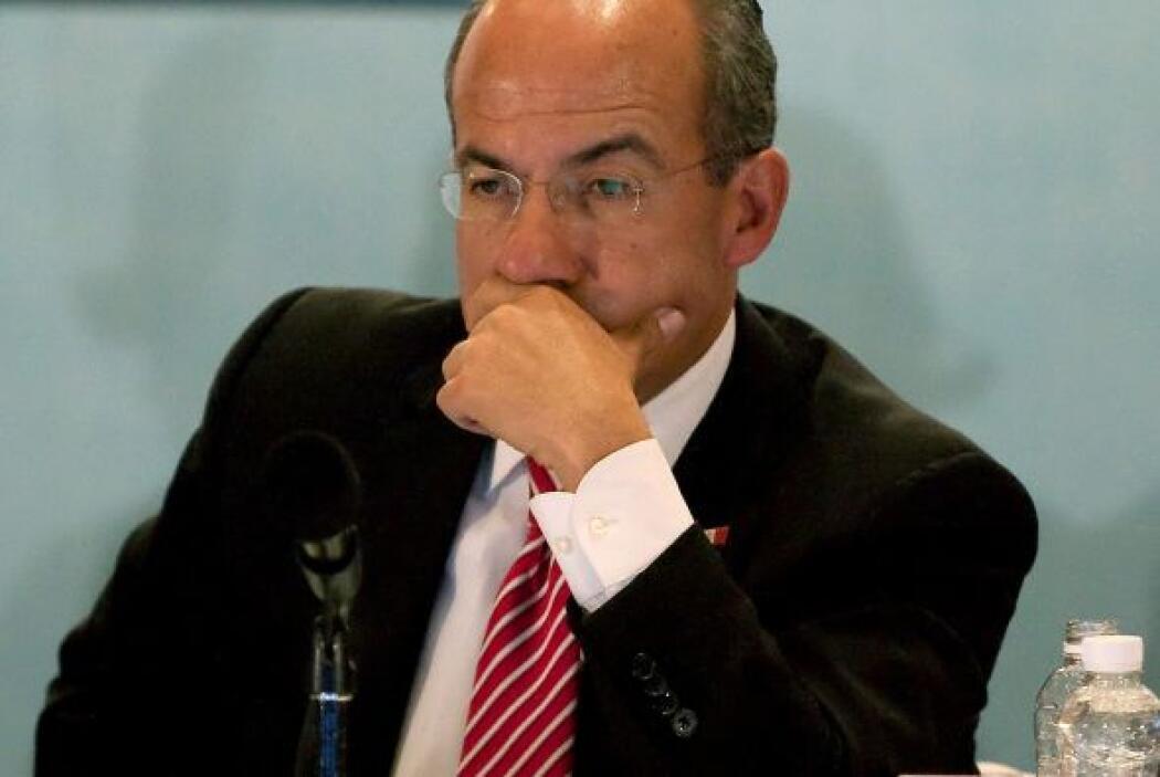 El presidente mexicano Felipe Calderón ha mostrado su preocupación por e...