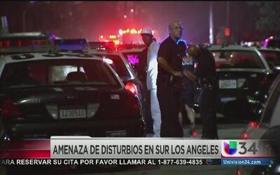 Amenaza de disturbios en el sur de Los Ángeles