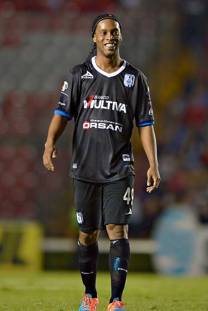 El primer gol de Ronaldinho en el fútbol mexicano se dio precisamente an...