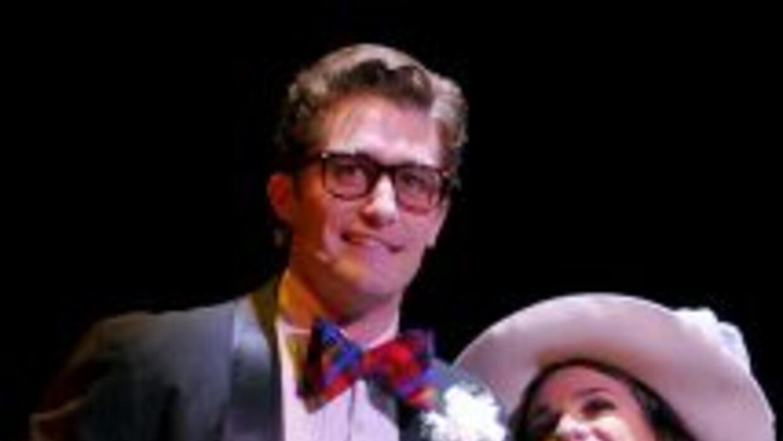 Lea Michele y Matthew Morrison se conoceron cuando trabajan en Broadway,...