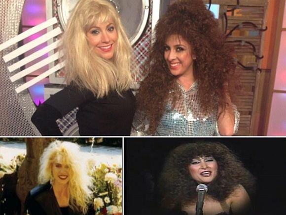 """""""Recordando la época de los 80 en @despiertaamericatv #Yuri y #AmandaMig..."""