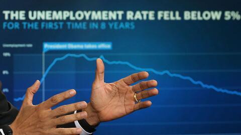 El desempleo registra niveles menores al 5% desde y una tendencia a la b...