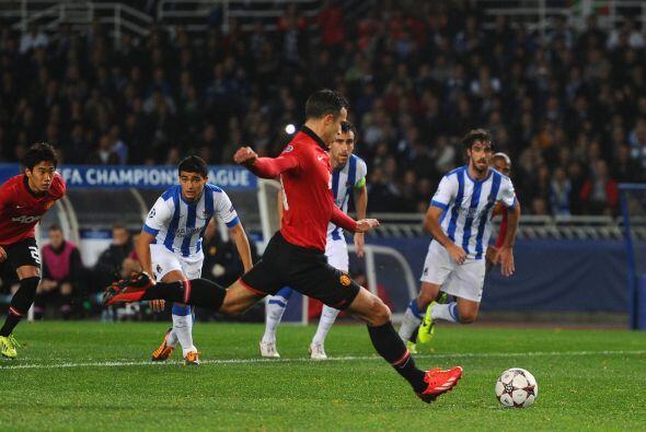 Un penalti le daba en el segundo tiempo al Manchester la opción de abrir...