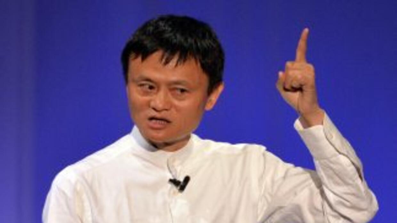 Jack Ma, el multimillonario fundador de Alibaba, en una conferencia en T...