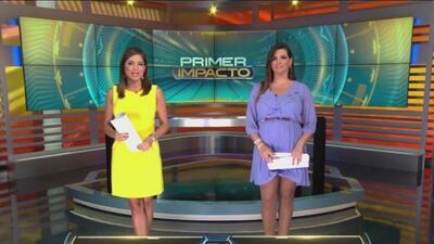 Pamela Silva Conde y Bárbara Bermudo, conductoras de Primer Impacto.