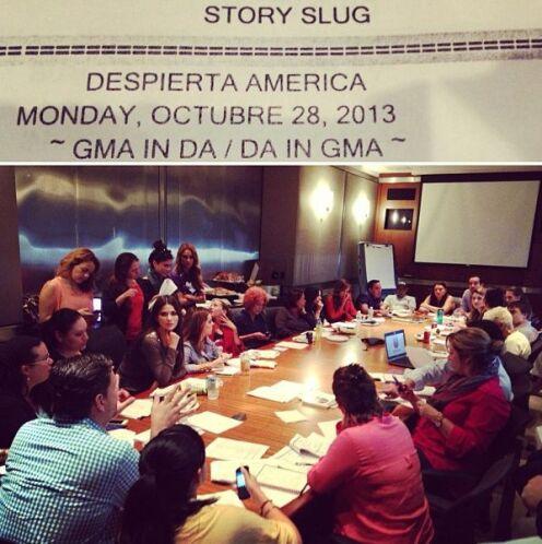 """""""¡¡En reunión para el gran día!! @DespiertaAmericaTV y @GoodMorningAmeri..."""