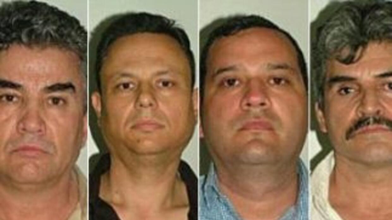 Fotografía de los cuatro detenidos. Cortesía del Ministerio Interior de...