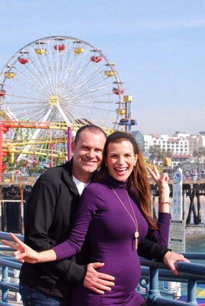"""""""Disfrutando de una linda tarde en Los Ángeles con mi Cristy..."""