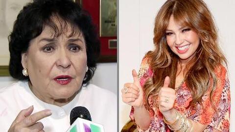 Carmen Salinas le prometió a Thalía que se informaría acerca de su enfer...
