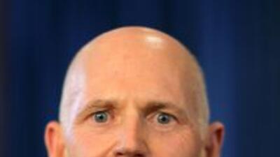 El candidato republicano Rick Scott anunció que será Jennifer Carroll, r...