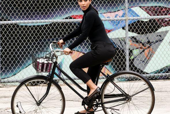 Le encantó andar en bicicleta. Más videos de Chismes aqu&i...